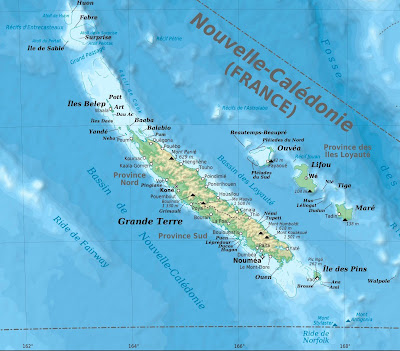 Map of New Caledonia and the Loyalty Islands. Courtesy of Eric Gaba.