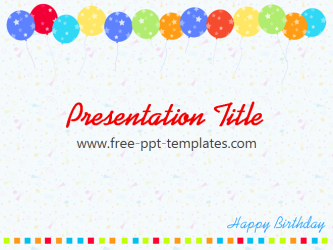 birthday ppt template free powerpoint templates