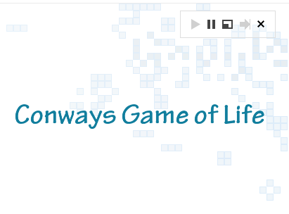 Type 'conways game of life' in Google To Simulate Game ...