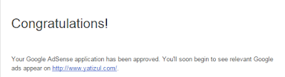 Yeay! Adsense Dah Approved