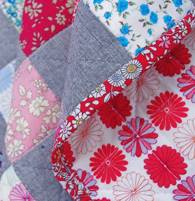 Liberty Tana Lawn and Chambray Checkerboard Quilt - Red Pepper Quilts