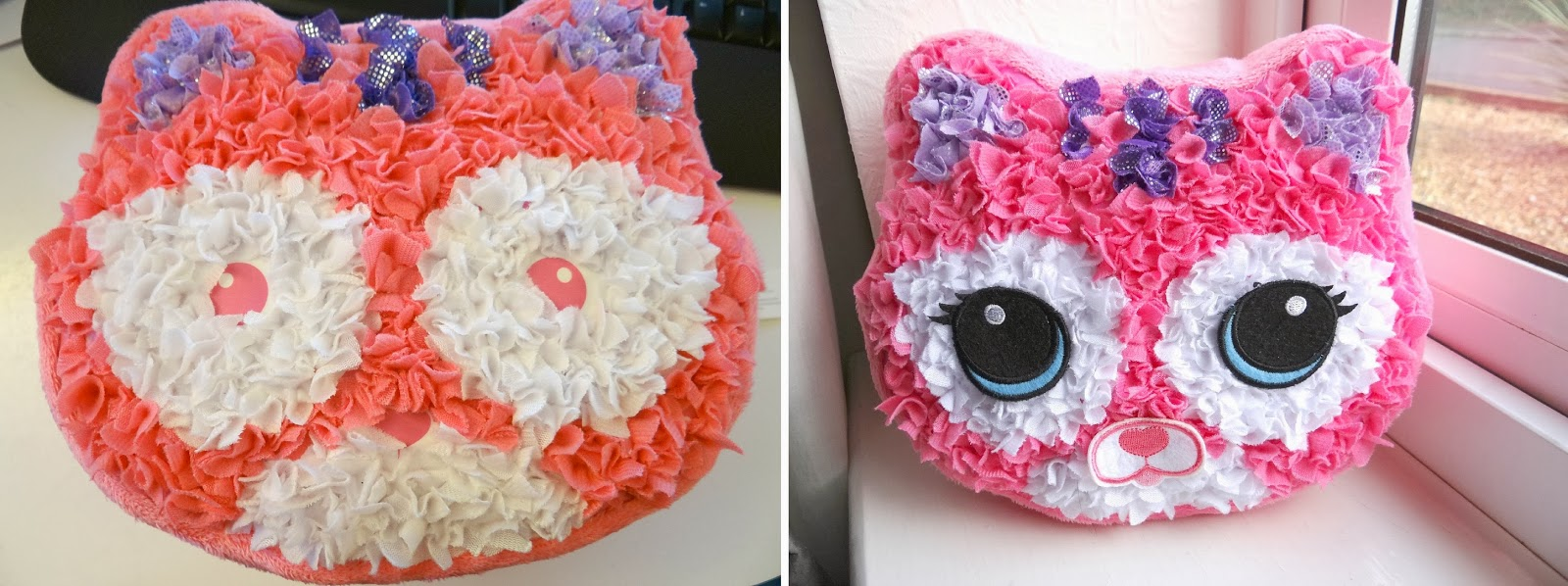 Plush Craft Fabric by Numbers Purr-fect Pillow, Make your own pillow, cat cushion