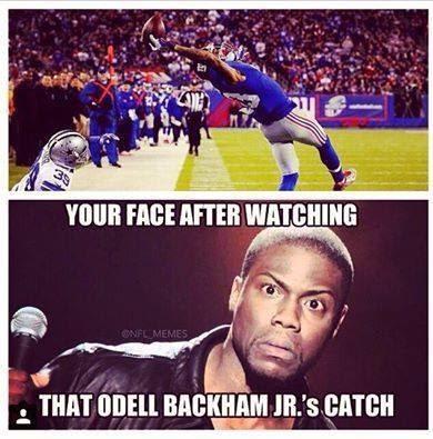 your face after watching that odell beckham jr.'s catch. #BeckhamJr #Giants #reactionface #catch