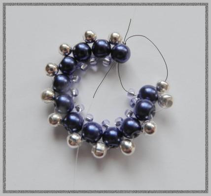 Beaded Gray Cross Pendant Tutorial by Sple | Jewelry Ideas