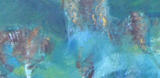 zoom pêcheur in sans-titre, acrylique, 100x120cm, Mélissia Piddiu 2015