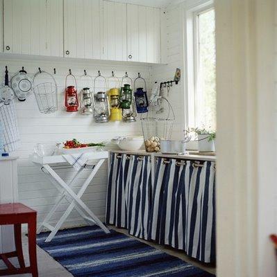 Decorar com divers o cozinha sem arm rios for Cortinas vintage para cocina