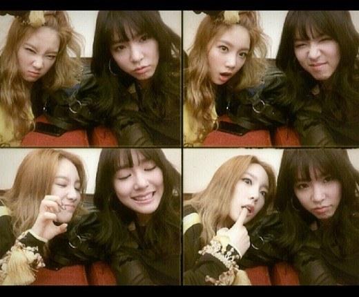 Tiffany & Taeyeon Selca Imut