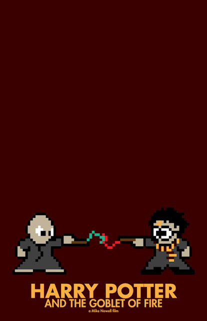 poster 8 bit harry potter y el caliz de fuego