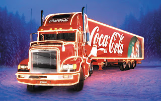 Free Download Coca Cola Christmas Truck Wallpaper