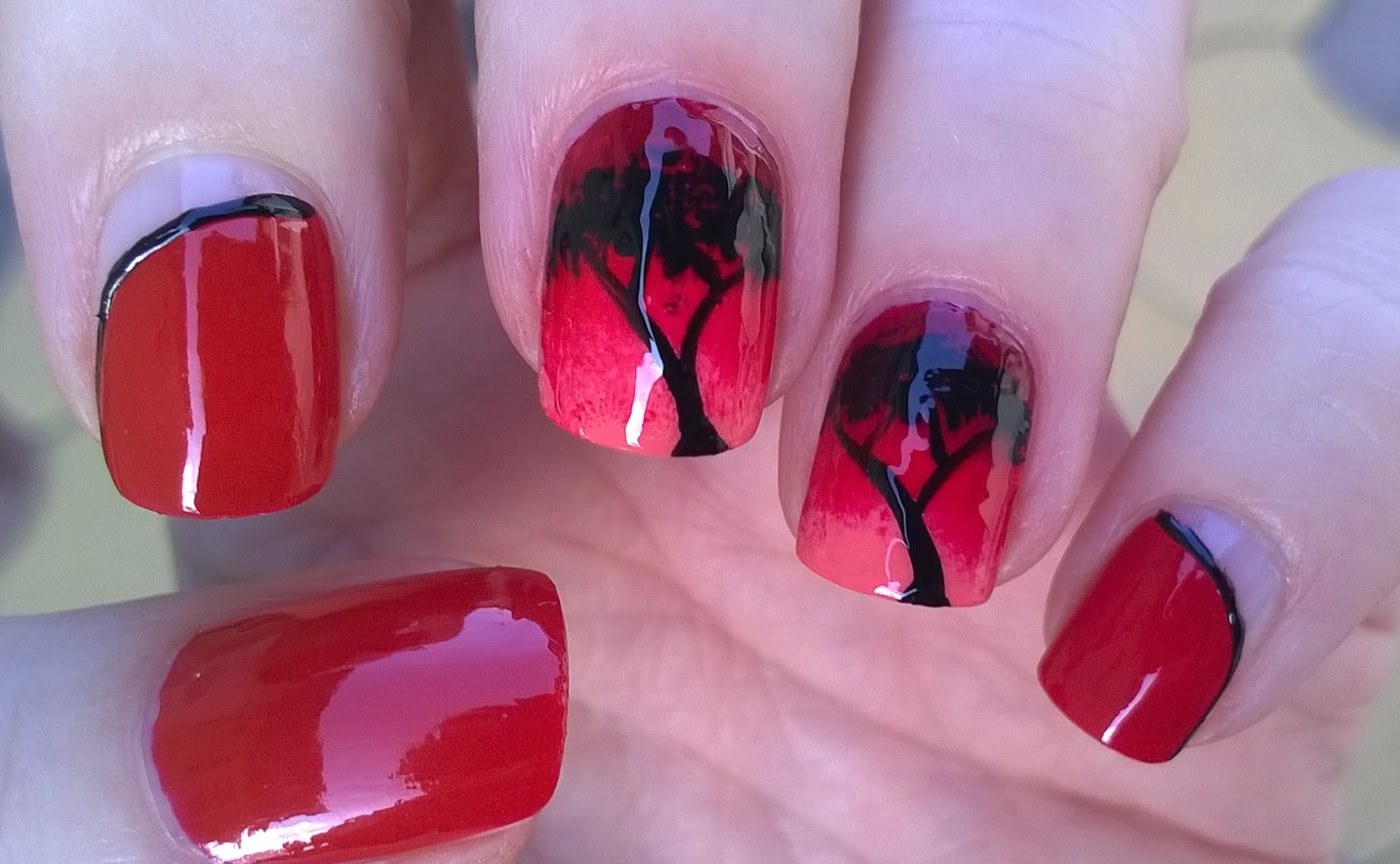 Life world women african night ombre nail art design african night ombre nail art design prinsesfo Images