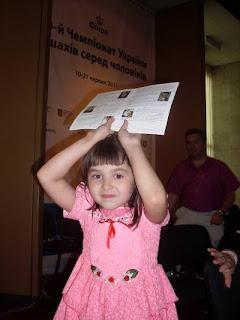Echecs à Kiev : Milena Vysochin © photo Chess & Strategy