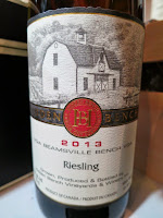 Hidden Bench Estate Riesling 2013 - VQA Beamsville Bench, Niagara Peninsula, Ontario, Canada (89 pts)