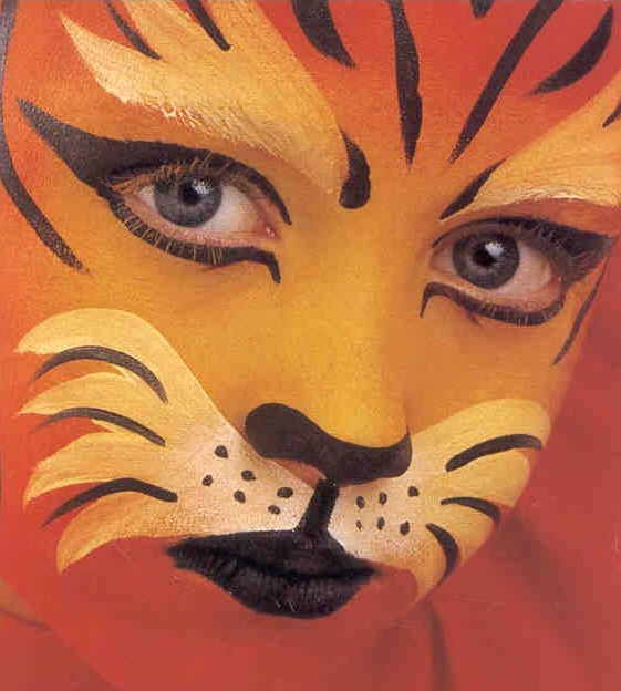 Easy tiger face paint - photo#6