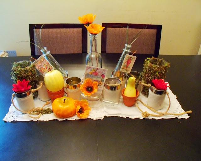 Fall 2013, Fall decor, Dollar tree crafts, Fall table decor