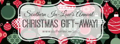 Southern In-Law's Christmas Giftaway Giveaway Series