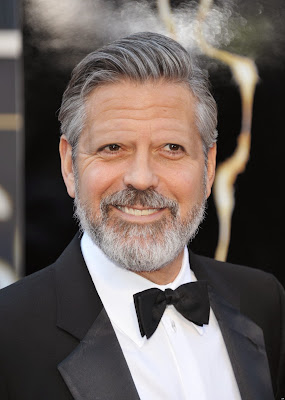 George Clooney with no eyebrows www.thebrighterwriter.blogspot.com