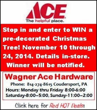 11-21 thru 11-24 Wagner Ace Hardware