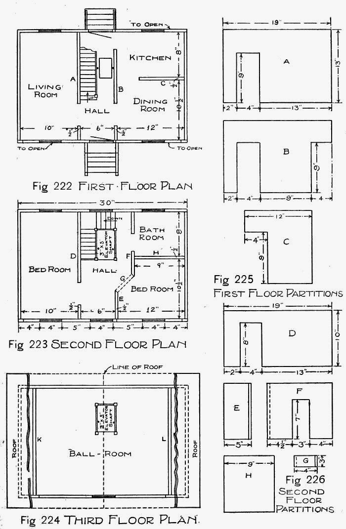 Wooden doll house plans how to make a wooden doll house for How to draw house blueprints