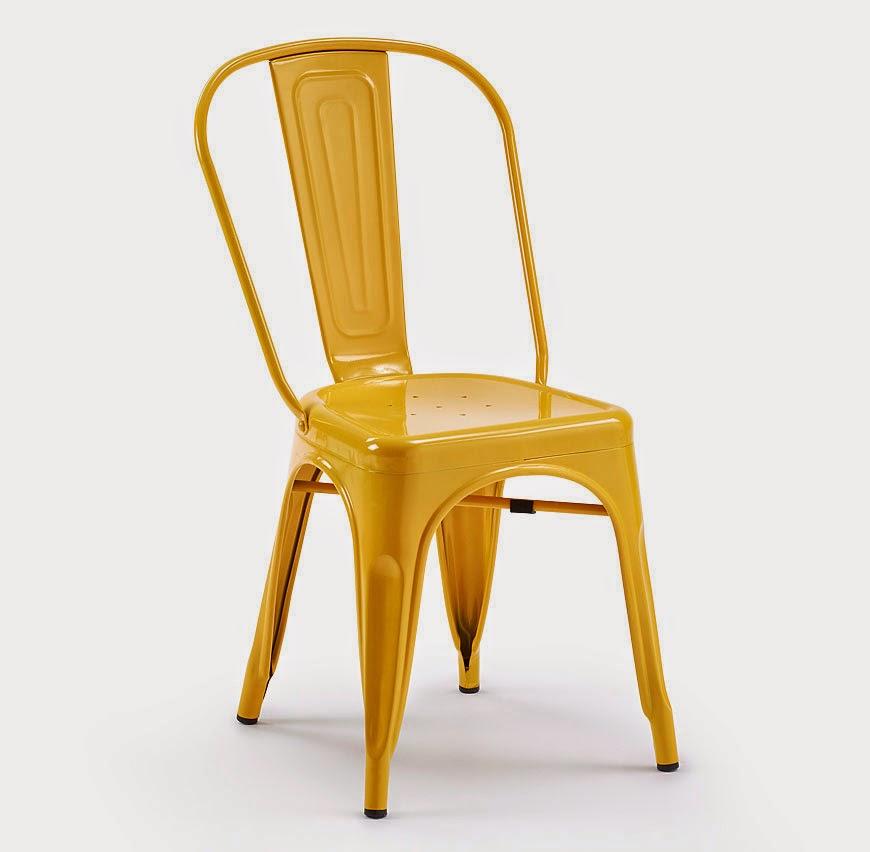 Comedores con sillas de colores for Sillas amarillas comedor