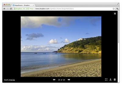 Dropbox lightbox για βίντεο και φωτογραφίες
