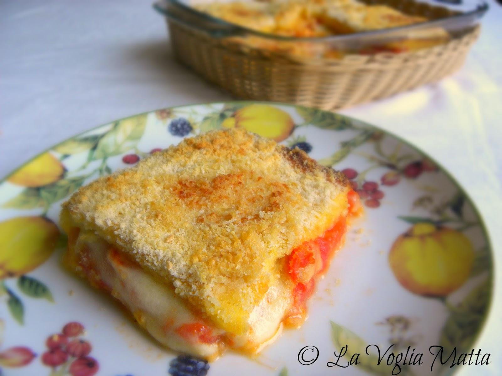 tortino di pomodoro e mozzarella