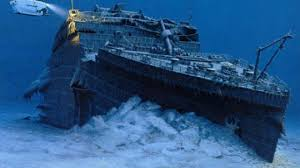 Titanic under the Ocean