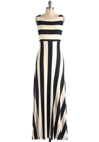 Beautiful Striped Sleeveless Maxi Dress