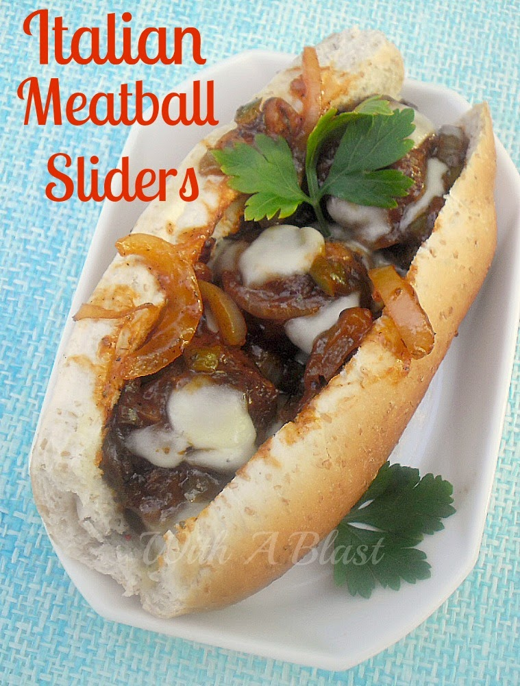 Italian Meatball Sliders ~ Juicy delicious Meatball sliders with melted Mozzarella topping #Sliders #Meatballs #Sandwiches