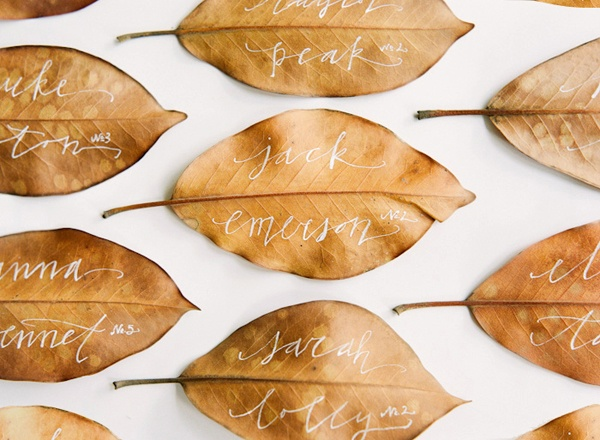 Fall wedding, rustic wedding, escort cards for wedding, leaves at wedding, wedding calligraphy,  Catholic wedding, Catholic wedding planning, Catholic wedding plan, Catholic bride