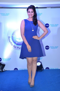 Parineeti Chopra Pictures in Blue Short Dress at Nivea Total Face Clean Up Digital Contest Winners Meet ~ Celebs Next