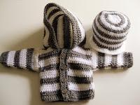 Anleitung gehäkelte Baby Kapuzenjacke und Mütze / tutorial crochet baby hooded jacket and cap | http://panpancrafts.blogspot.de/