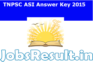 TNPSC ASI Answer Key 2015