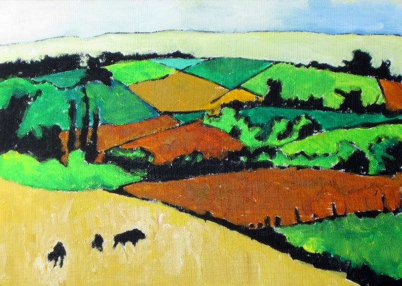 rural art | grazing | painting