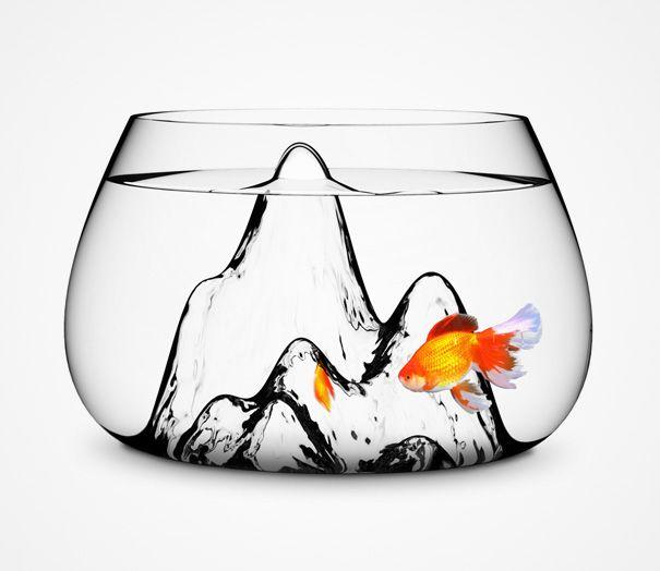 20 Akuarium Paling Unik dan Kreatif di Dunia : Fishcave Fishbowl