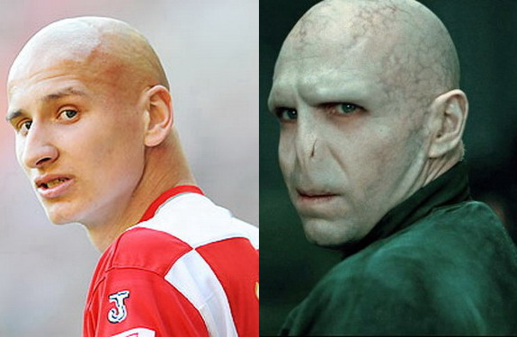 Jonjo Shelvey bears remarkable resemblance to Lord Voldemort