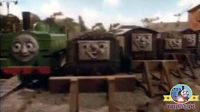 Little green GWR Duck the train the Island of Sodor quarry mine troublesome trucks old and empty