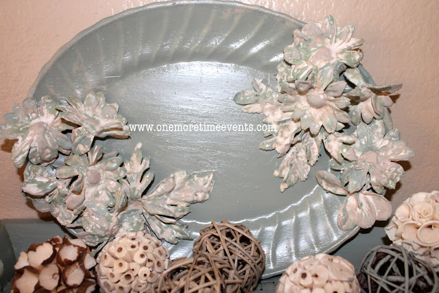 Decorating with Plaster of Paris Flower Plate at One More Time Events.com