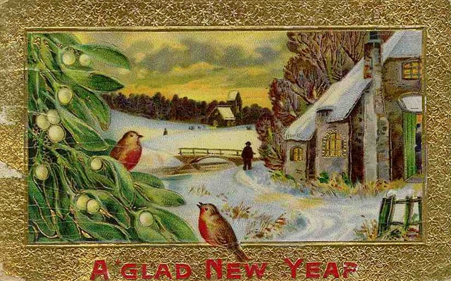 i thought i would share with every body a few wonderful old time new years post cards