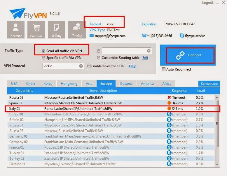 Italy VPN Service
