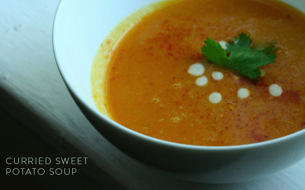 Adrienneats: Curried sweet potato soup