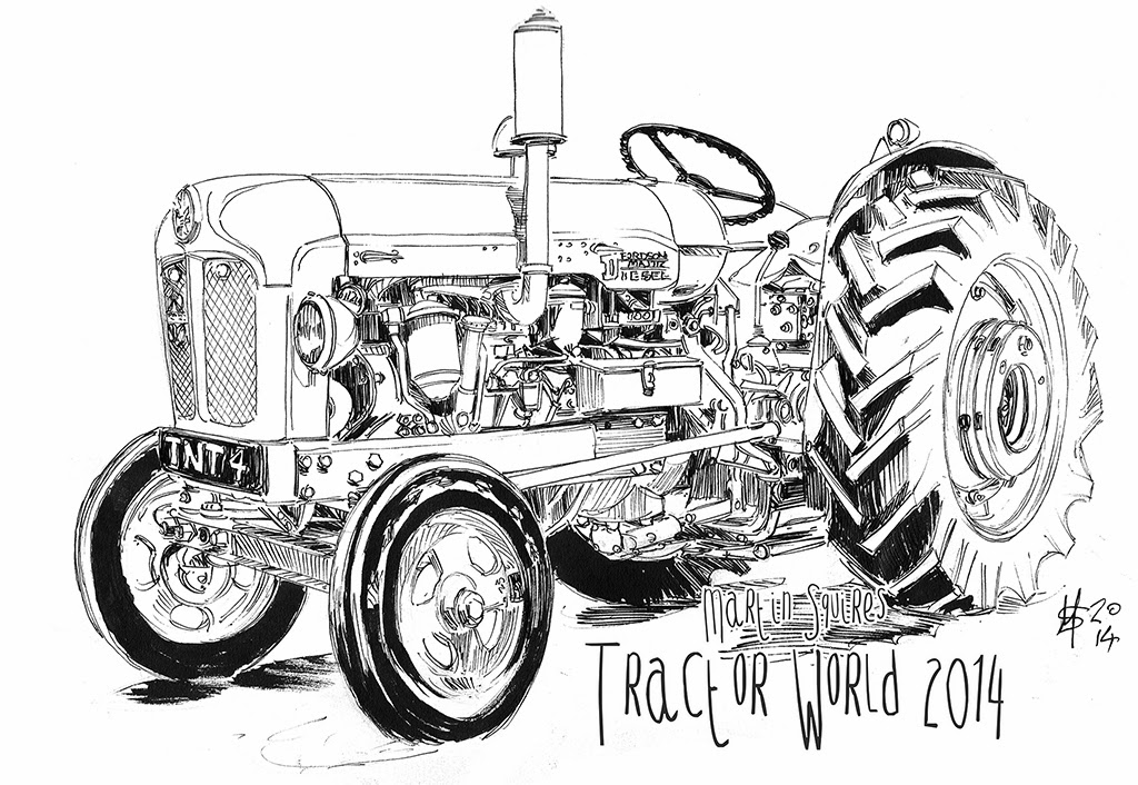 martin squires automotive illustration  tractor world 2014