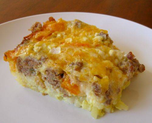 ingredients 3 1 2 cups frozen hash browns 1 pound sausage browned and ...