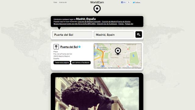 WorldCam (Visualizador de fotos de Instagram con búsqueda por país, sector y otras geolocalizaciones)