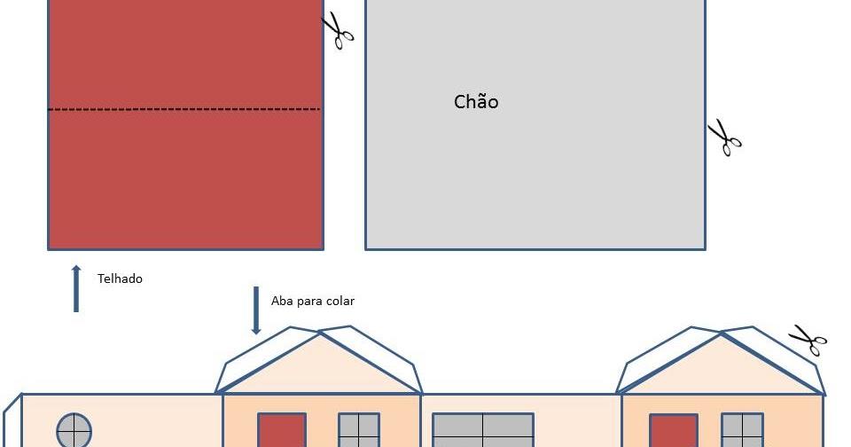 2012 >> Cores e mais cores: Casinha de papel para recortar e montar