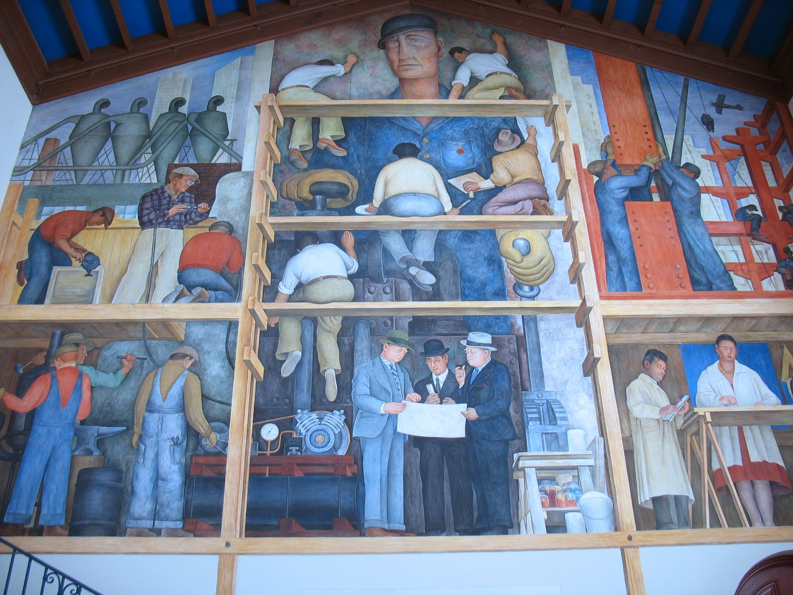 Buon fresco 101 a brief introduction for Diego rivera mural san francisco art institute