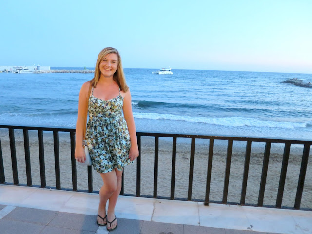 Marbella Spain Summer Holiday Sea View Outfit Dress Hollister