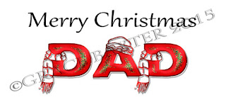Christmas tag for Dad, touques and scarves. Designed by Grace Baxter