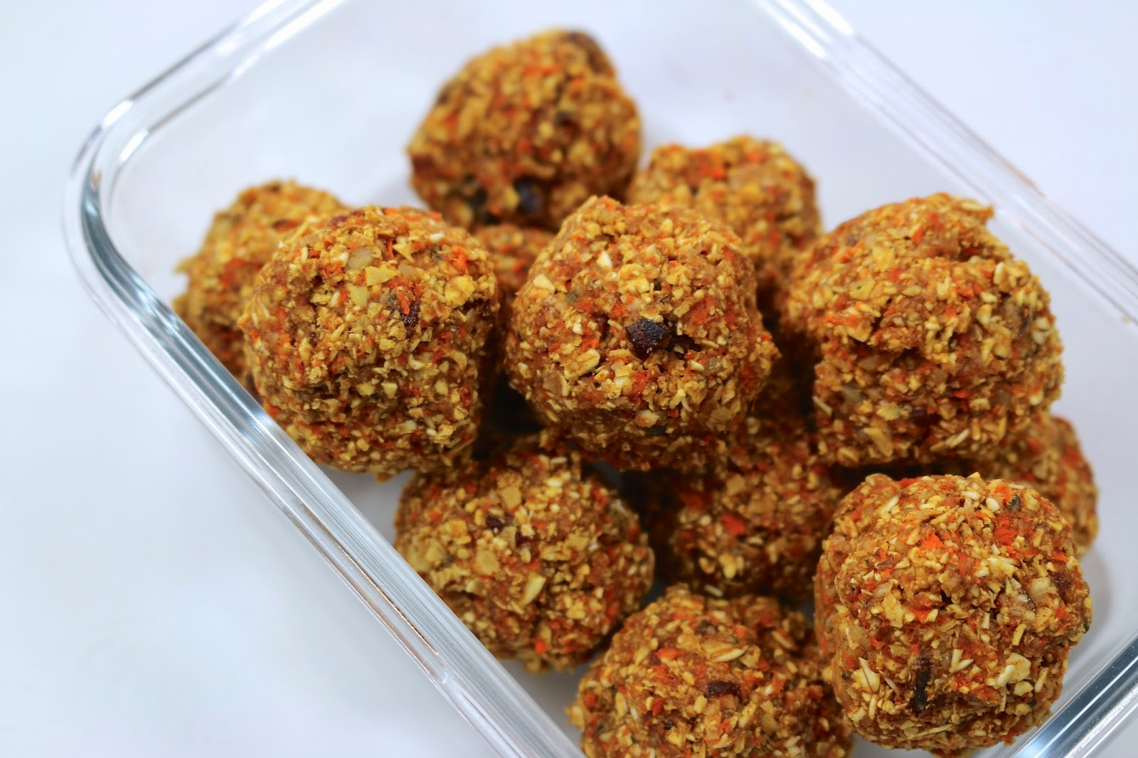 Vegan Carrot Cake Energy Bites: Loaded with the goodness of whole grains, fiber, and omega-3s
