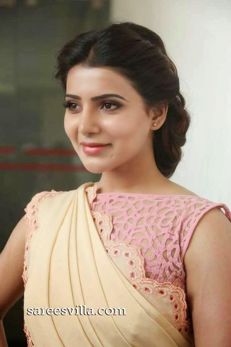 Samantha in Braided Bun Hairstyle