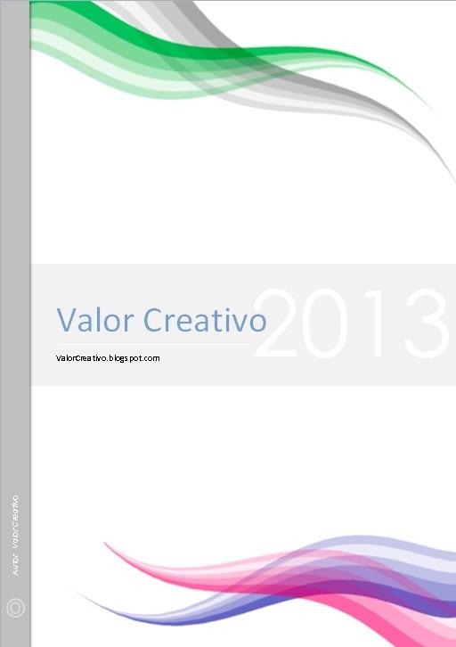 Valor Creativo: Caratulas para Trabajos